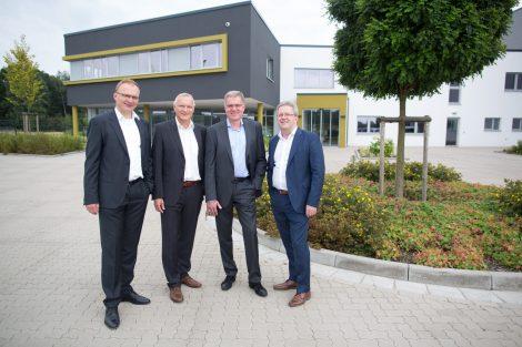 Die Geschäftsführer der Ludwig Bertram GmbH von links nach rechts: Dirk Moch, Andreas Schaper, Birger Tegtmeier und Thomas Ritter.