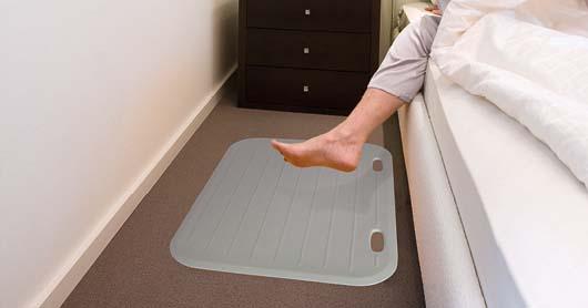 Funk-Sensormatte, als Bettvorleger genutzt