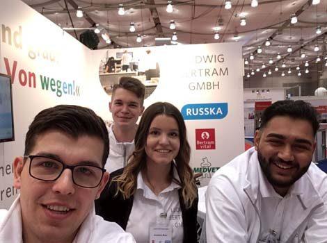Die Auszubildenden der Ludwig Bertram GmbH auf der beruf & bildung 2019